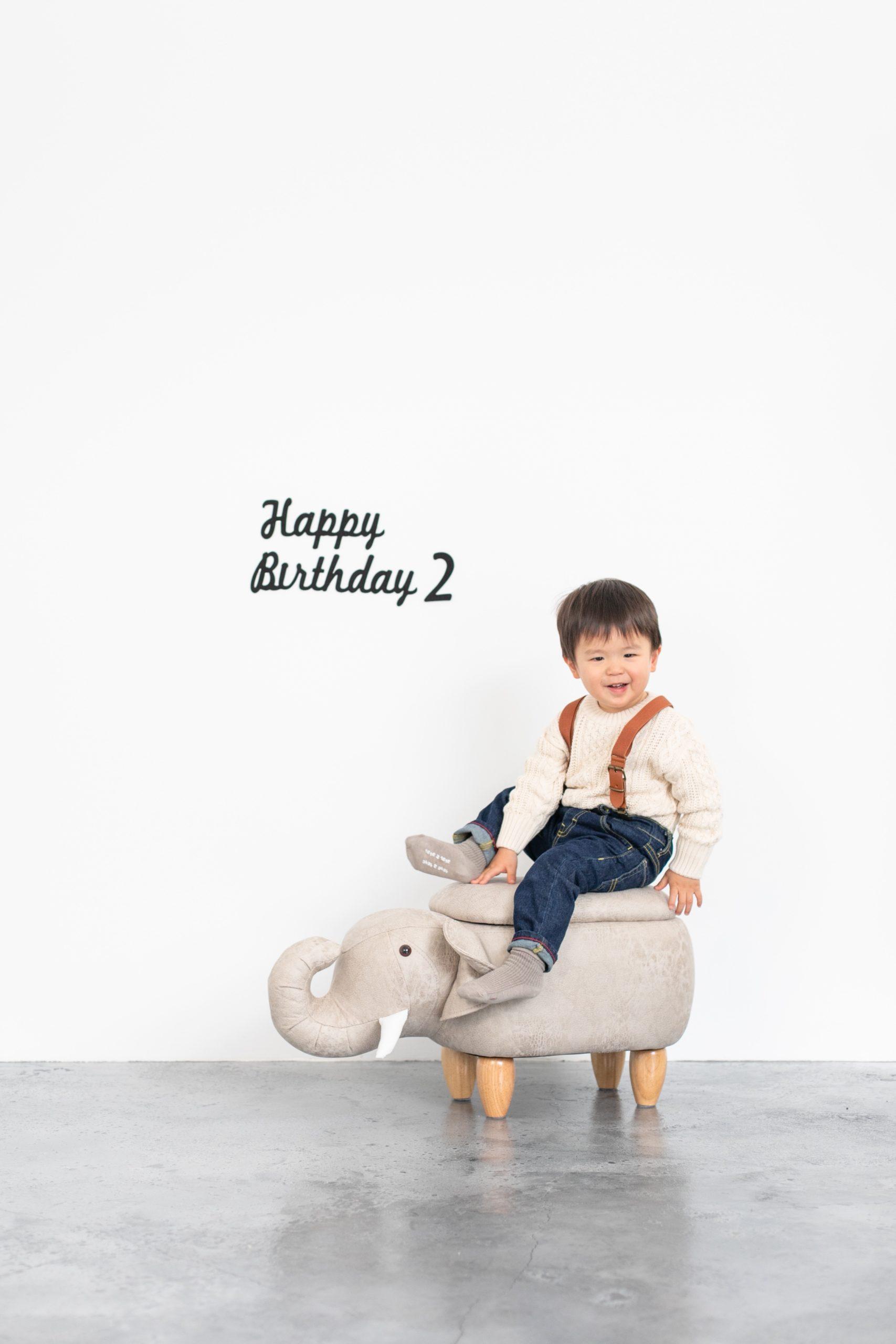 2歳バースデーフォト