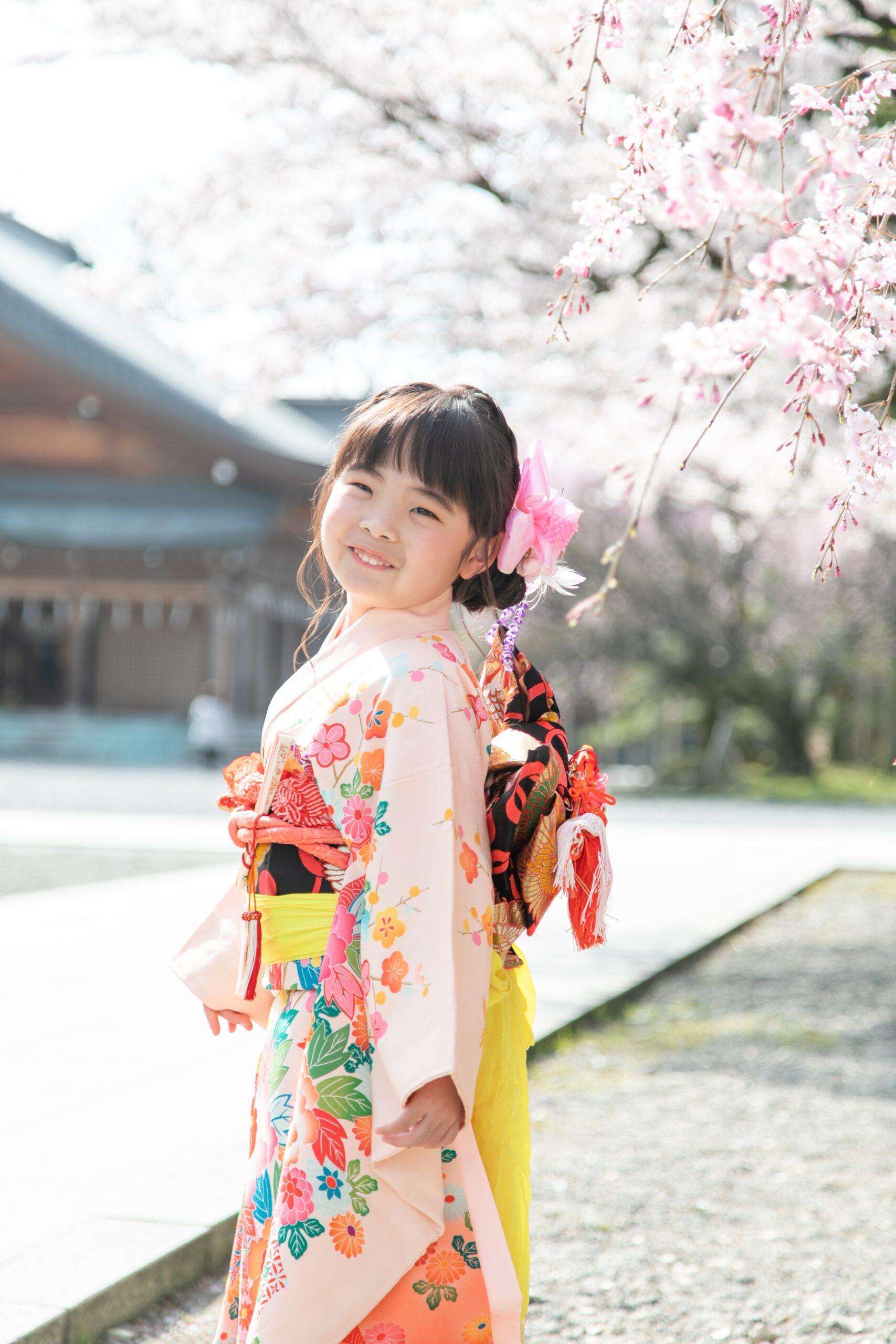 桜と七五三前撮り
