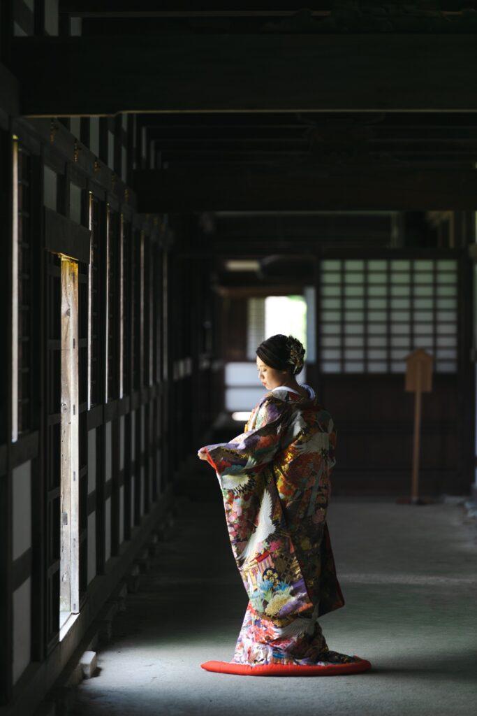 瑞龍寺でロケーション前撮り
